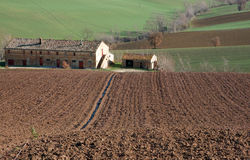 farm in val of Recanati, Italy Royalty Free Stock Photos