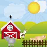Farm vector Royalty Free Stock Image