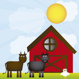 Farm vector Stock Image