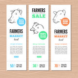 Farm vector banners Stock Images