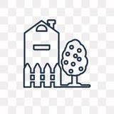 Farm vector icon isolated on transparent background, linear Farm stock illustration