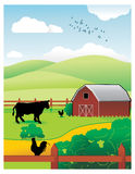 Farm vector illustration Royalty Free Stock Photos