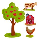Farm vector illustration nature food harvesting grain agriculture growth cultivated design. Royalty Free Stock Image