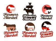 Farm vector logo. livestock farming, animal husbandry icon Royalty Free Stock Photo