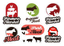 Farm vector logo. meat, food, livestock breeding icon Royalty Free Stock Images