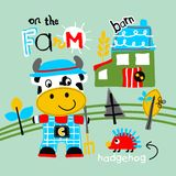On the farm. Vector for wallpaper wall Royalty Free Stock Image