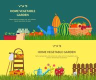 Farm with vegetables and garden items Royalty Free Stock Image