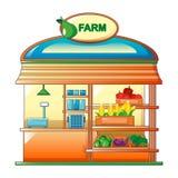 Farm vegetables street shop icon, cartoon style. Farm vegetables street shop icon. Cartoon of farm vegetables street shop vector icon for web design isolated on Stock Photo