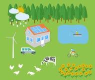Farm vellage landscape Royalty Free Stock Image