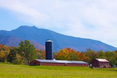 Farm in Vermont. Farm in Cambridge, Vermont this fall Royalty Free Stock Photos