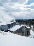 Maple sugar shack with steam raising Stock Photos