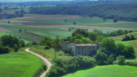 Farm Villa in Tuscany Italy stock video