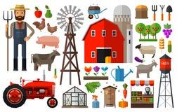 Farm in village vector logo design template Stock Photo