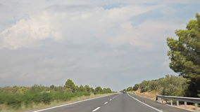 Farm Vineyard trip Car. Spain, city of Calig August 2014. The trip by car. Accelerated video stock video