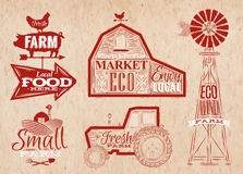 Farm vintage red Stock Photos