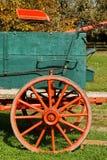Farm Wagon. Closeup of a Farm Wagon Seatand Wheel stock photos
