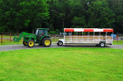 Farm Wagon Green Lawn Royalty Free Stock Photo