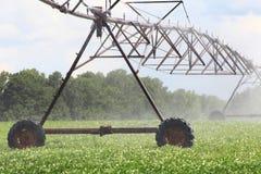 Farm Water Machine. Irrigation machine in farm field Stock Image