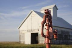 Farm water spigot stock photography