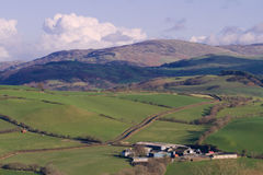 Farm in Welsh Countryside Stock Image