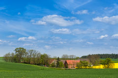 Farm in West Pomerania, Germany Stock Images