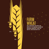 Farm wheat vector illustration Royalty Free Stock Photos