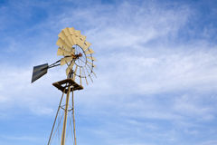 Farm Windmill Stock Photo