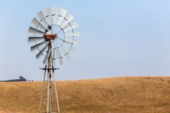 Farm Windmill Landscape Stock Images