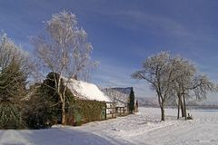 Farm in winter, Germany Royalty Free Stock Photo