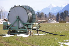 Farm Winter Irrigation Reel Stock Image