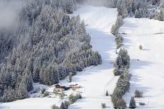 Farm winter landscape Royalty Free Stock Image