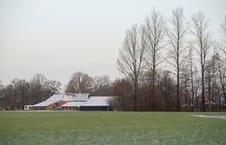 Farm in winter rural landscape. Geesteren. Achterhoek. Gelderlan. Farm in a winter rural landscape. Geesteren. Achterhoek. Gelderland. The Netherlands Royalty Free Stock Photo