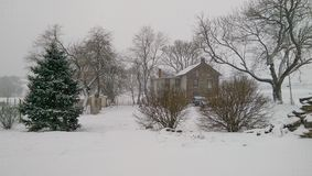 The Farm in Winter. A snowy day on a farm in rural Pennsylvania Royalty Free Stock Photography