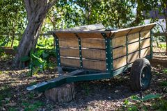 Farm Wood Trailer royalty free stock images