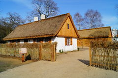 Farm, wooden and brick buildings of the area of the museum. Reconstruction of IXX century Royalty Free Stock Photos
