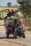 Farm Worker Transport - Myanmar (Burma) Stock Image