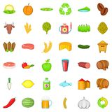 Farm working icons set, cartoon style. Farm working icons set. Cartoon style of 36 farm working vector icons for web isolated on white background Royalty Free Stock Images