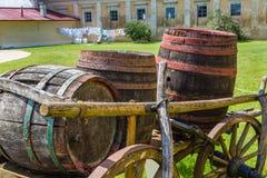 Farm yard the chateau Milotice Stock Photography