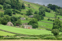 Farm in the Yorkshire Dales. A photo of af farm the Yorkshire Dales stock image
