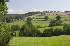 Farm on The Yorkshire Wolds Stock Photos