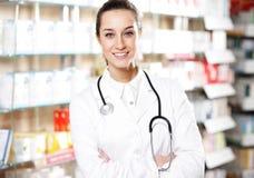 farmacéutico de la mujer Imagen de archivo