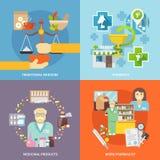 Farmacéutico Icons Set Fotos de archivo
