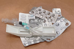 Farmacéutico usado fotos de archivo libres de regalías