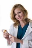 Farmacêutico da senhora Fotos de Stock