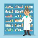 Farmacêutico na drograria Imagens de Stock Royalty Free