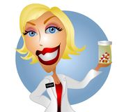 Farmacêutico ou doutor da mulher ilustração do vetor