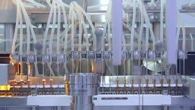 Farmaceutisch productiemateriaal E stock video