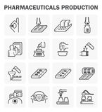 Farmaceutisch vectorpictogram Royalty-vrije Stock Fotografie