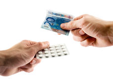 Farmaceutisch-verkoop Royalty-vrije Stock Foto's