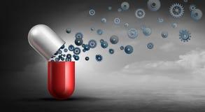 Farmaceutische Apotheekindustrie royalty-vrije illustratie